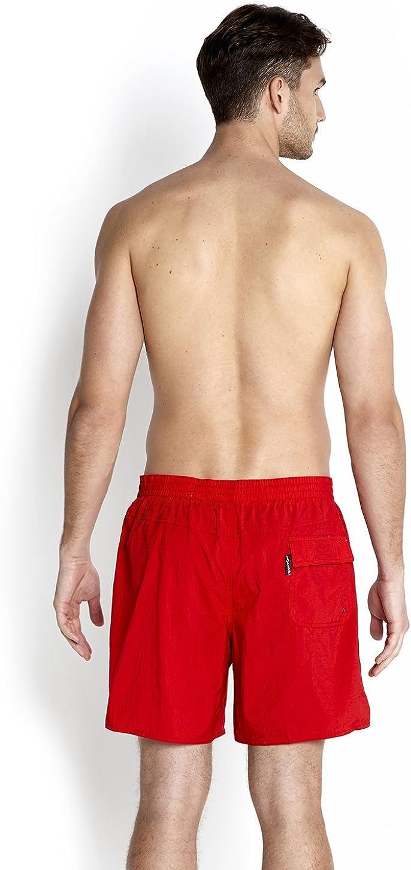 Speedo Solid Leisure Mens Swim Shorts Fed Red