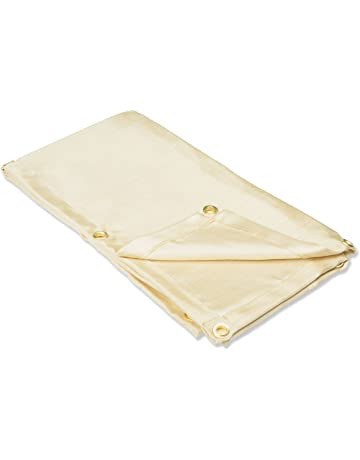 Neiko 10908A Heavy Duty Fiberglass Welding Blanket and Cover with Brass Grommets, 4 x