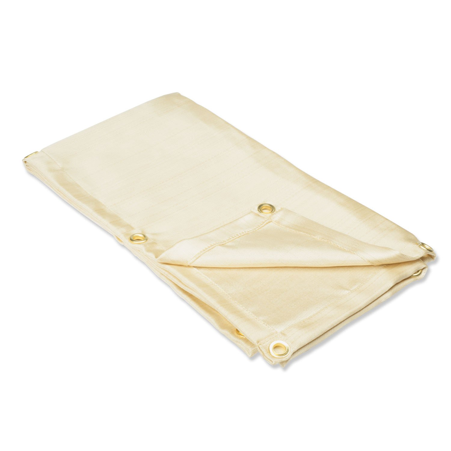 Neiko 10908A Heavy Duty Fiberglass Welding Blanket and Cover with Brass Grommets, 4' x 6', Clear