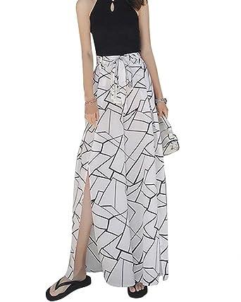 Mujer Pantalon Verano Elegantes Cintura Alta Impresión Casuales ...