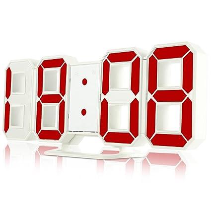 Shuangklei Moderno Original Reloj De Pared Reloj De Sobremesa Led Digital Relojes Alarma Snooze Despertador Escritorio