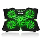 "Vanble 5 Fans Gaming Laptop Cooling Pad for 12""-17"" Laptops with LED Lights"