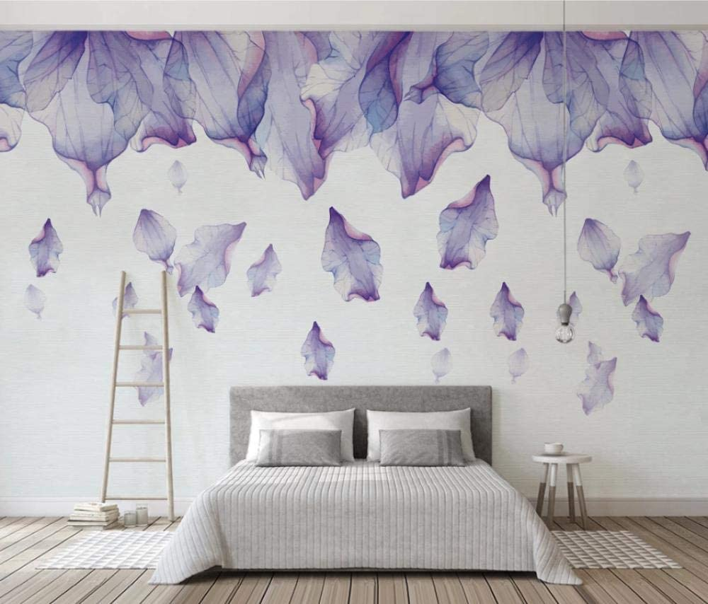 11D Wallpaper 11D Living Room Bedroom Mural Wallpaper Minimal Purple