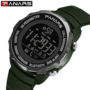 beautygoods Bluetooth SmartWatch, para Hombres, Buceo, 5 Bar, podómetro 3D, Reloj de Pulsera, Reloj de Buceo para Hombre, Reloj Despertador: Amazon.es: ...