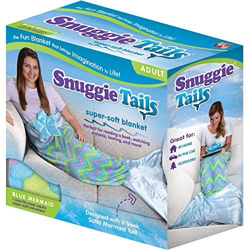 Snuggie Tails Mermaid Blanket For Adults (Blue)