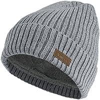 Vmevo Wool Cuffed Plain Beanie Warm Winter Knit Hats Unisex Watch Cap Skull Cap