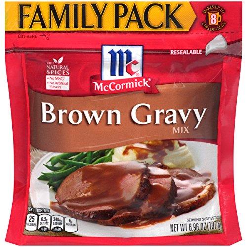 McCormick Family Pack Brown Gravy Mix, 6.96 oz