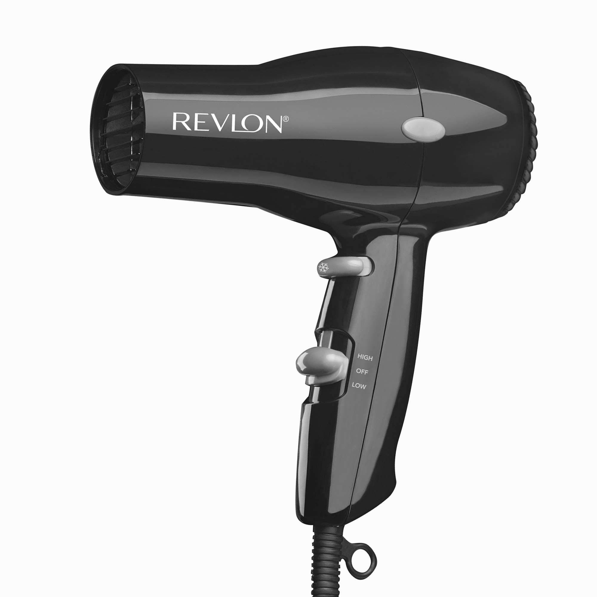 REVLON 1875W Lightweight + Compact Travel Hair Dryer, Black