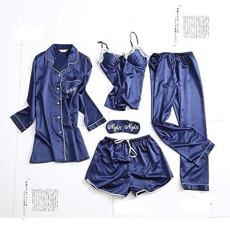 Conjuntos de Pijamas para Damas, Traje de 5 Piezas, Tirantes ...