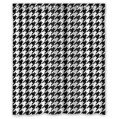 Classic Houndstooth Designcolorful Art Polyester Fabric Custom Shower Curtain 60quot