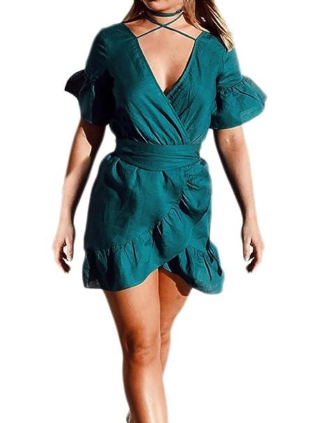 huge discount dfee3 b0ca6 Donna Vestiti Da Giorno Corti Estive Semplice Glamorous ...