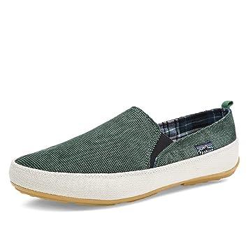 ZHRUI Slip on Mocasines para Hombre de Suela Blanda Antideslizante Casual Transpirable Zapatos durables (Color : Verde, tamaño : EU 40): Amazon.es: Hogar
