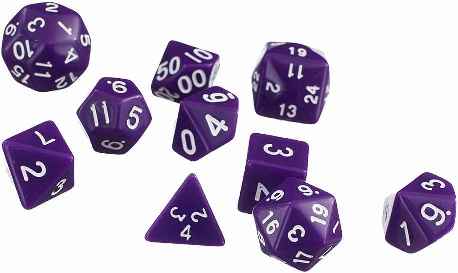 10pcs / Set Juegos TRPG Dungeons & Dragons D4-D30 Dados De Varios Lados Púrpura: Amazon.es: Juguetes y juegos