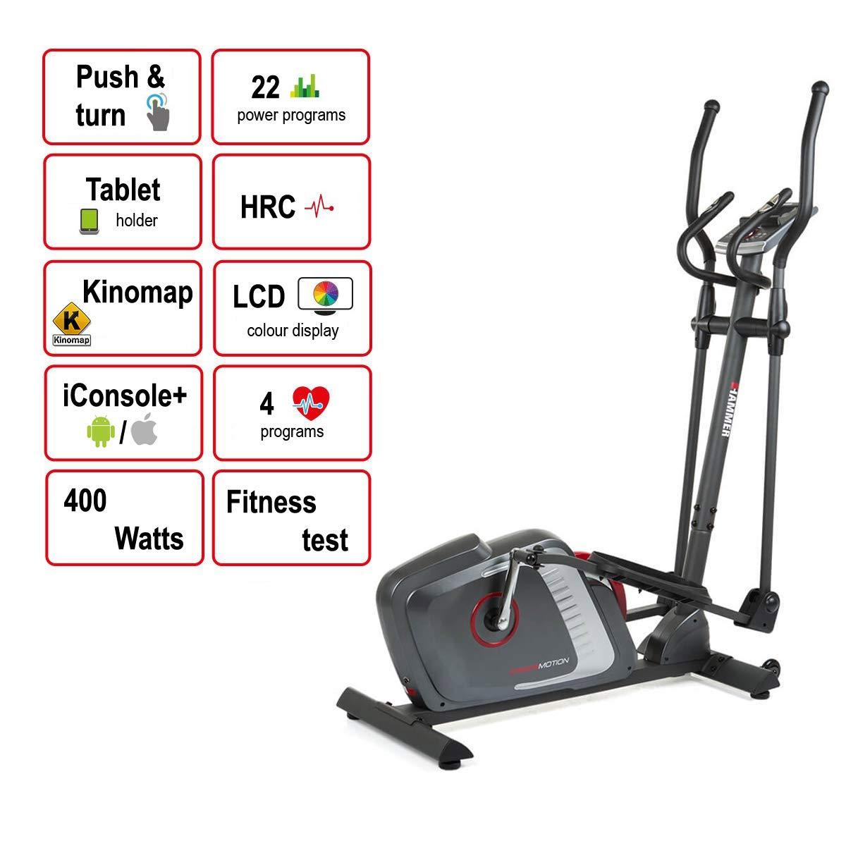 Hammer Cross-Motion BT - Bicicleta elíptica de alta calidad ...