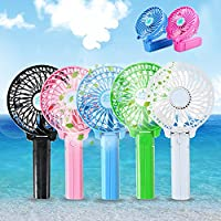 Vanki 1 PCS Portable Mini USB / Battery Fans Hand-held Persional Fan for Indoor or Travel, Pink