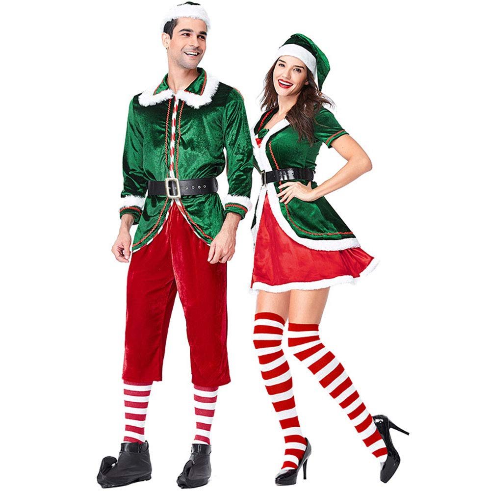 Entzückend Amazon.com: Hallowmax Women Christmas Costume Fancy Dress Green Christmas  Spirit Party Couple Costume Cosplay Carnival Outfits: Clothing