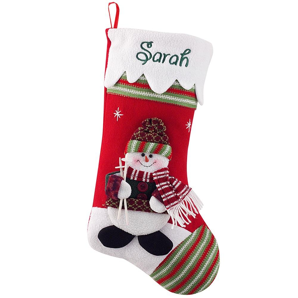 Personalized Gifts Winter Wonderland Stocking - Snowman