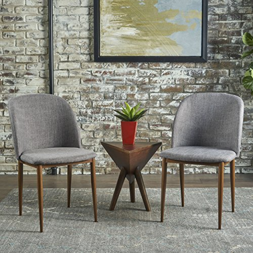 - Christopher Knight Home 301384 Anastasia Dining Chair (Set of 2), Grey + Light Walnut