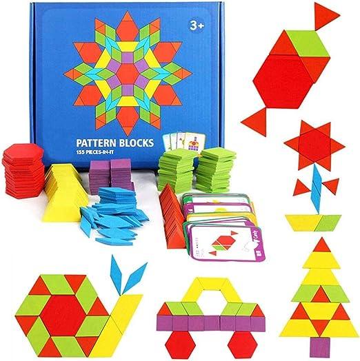 HellDoler Holzpuzzles Geometrische Puzzle 155 Teile