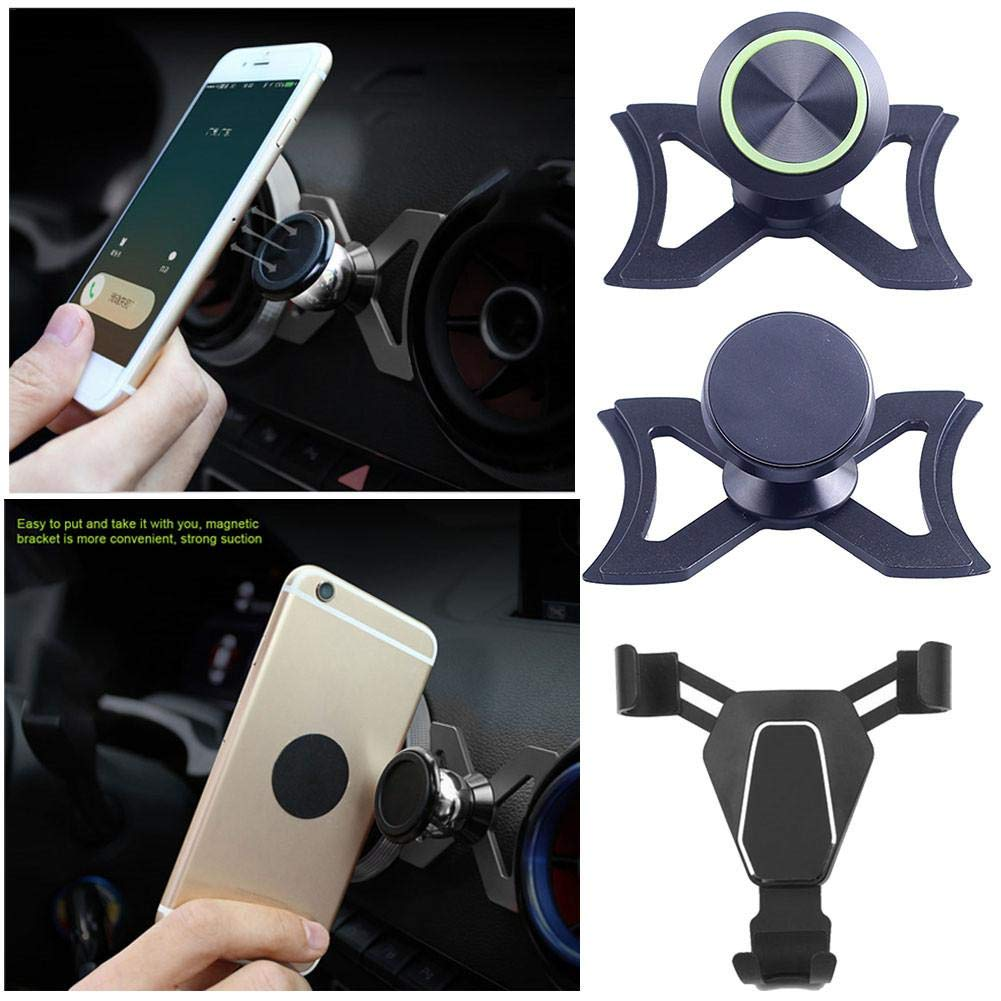 Automotive S3 Car Covers Hellycuche 360-Degree Rotary Swivel Cell Phone Magnetic Cradle Phone Holder Car Air Vent Outlet Mount for Audi A3