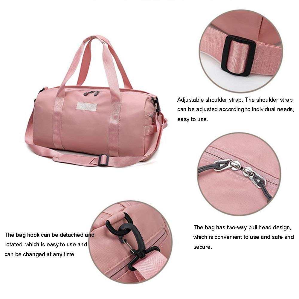 JNJ Gym Bag Dry Wet Separated,Waterproof Sports Duffel Bag Training Handbag Yoga Bag with Shoes Compartment Shoulder Tote Bag Travel Holdall Sports Bag
