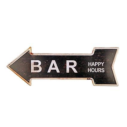 Amazoncom New Deco Bar Metal Tin Signs With Rustic Retro Arrow