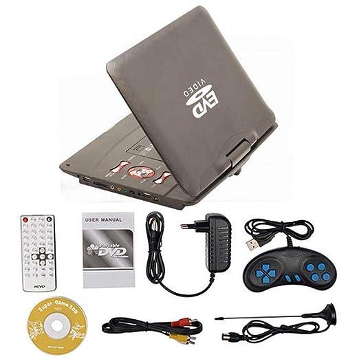 TEEPAO - Reproductor de DVD portátil con Pantalla giratoria de 270 ...