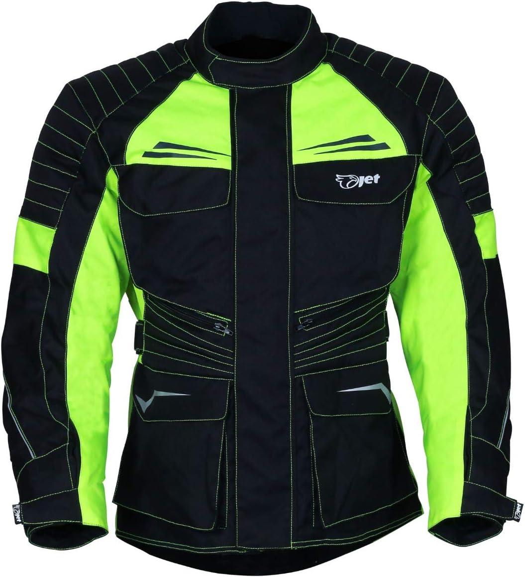 EU 58-60 Fluro, 4XL JET Blouson Veste Moto Homme Imperm/éable avec Armure Textile Titan