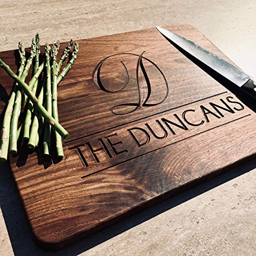- Personalized Wood Cutting Boards Wooden Cutting Board Monogram Wedding Gift House Warming Engraved Serving Board Custom Wood Cutting Board 12x16