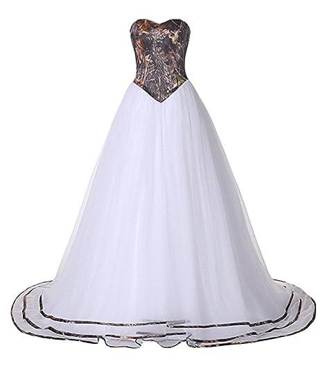 Camo Wedding Dresses for Outdoor Wedding