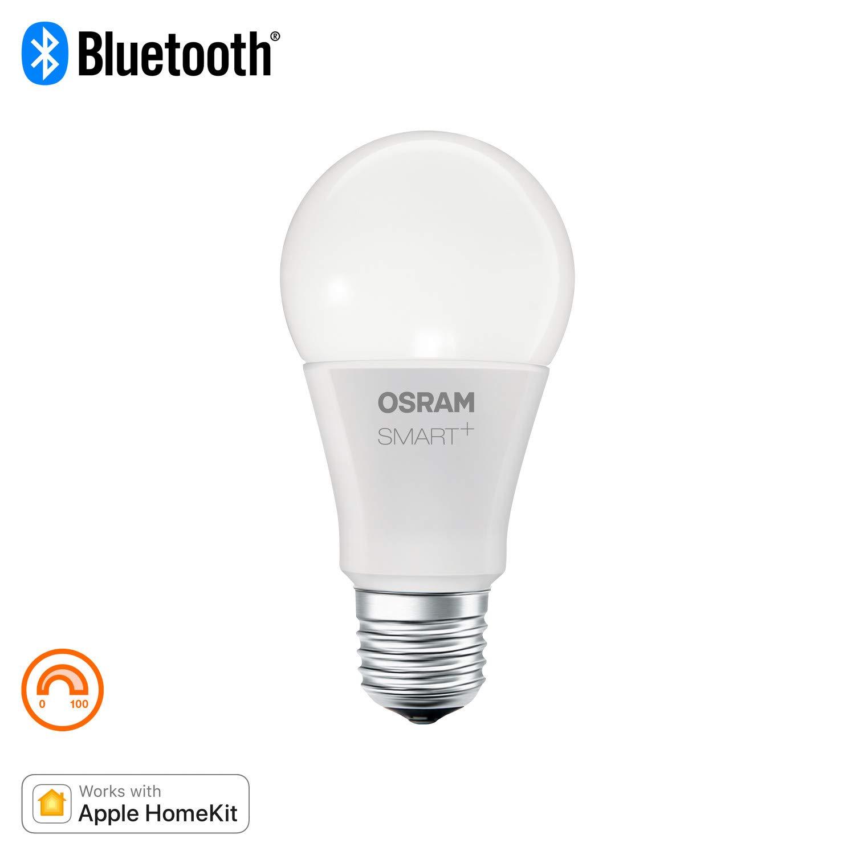 Bombilla LED 9/W Luz Blanca C/álida 12/x 6/x 6/cm Clase de eficiencia energ/ética A 800 lm Compatible Buetooth,Apple HomeKit Osram Smart Plus Classic E27 Dimmable