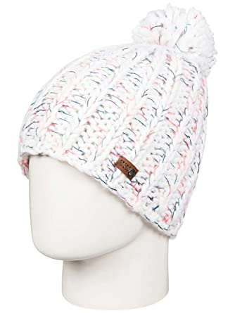 Roxy Nola Bobble Hat in Bright White