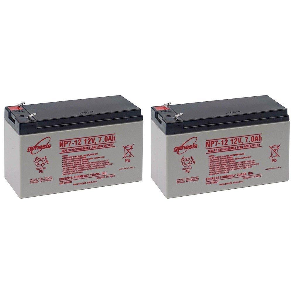 EnerSys Genesis NP7-12 12V 7Ah Sealed Lead Acid Battery (2 Pack)