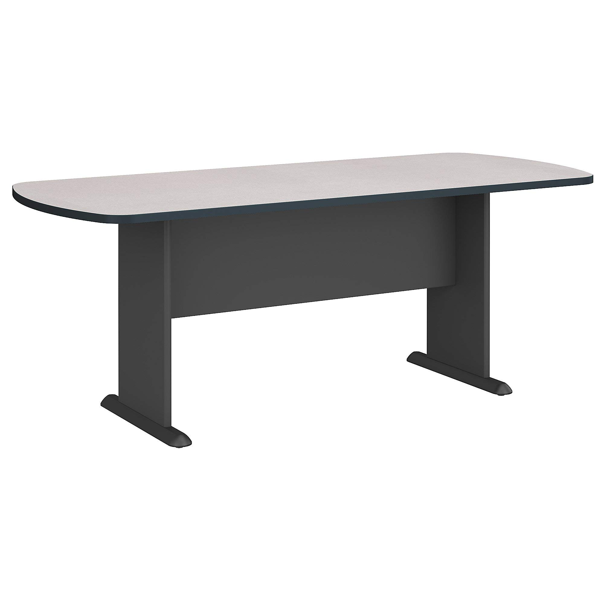 Bush Business Furniture Series A & C 79W x 34D Racetrack Oval Conference Table in Slate by Bush Business Furniture