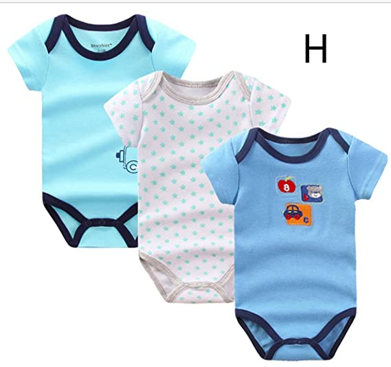new appearance marketable exceptional range of colors Beatrbior 3pcs/Lot Newborn Baby Boy Girl Rompers Cute Cotton ...