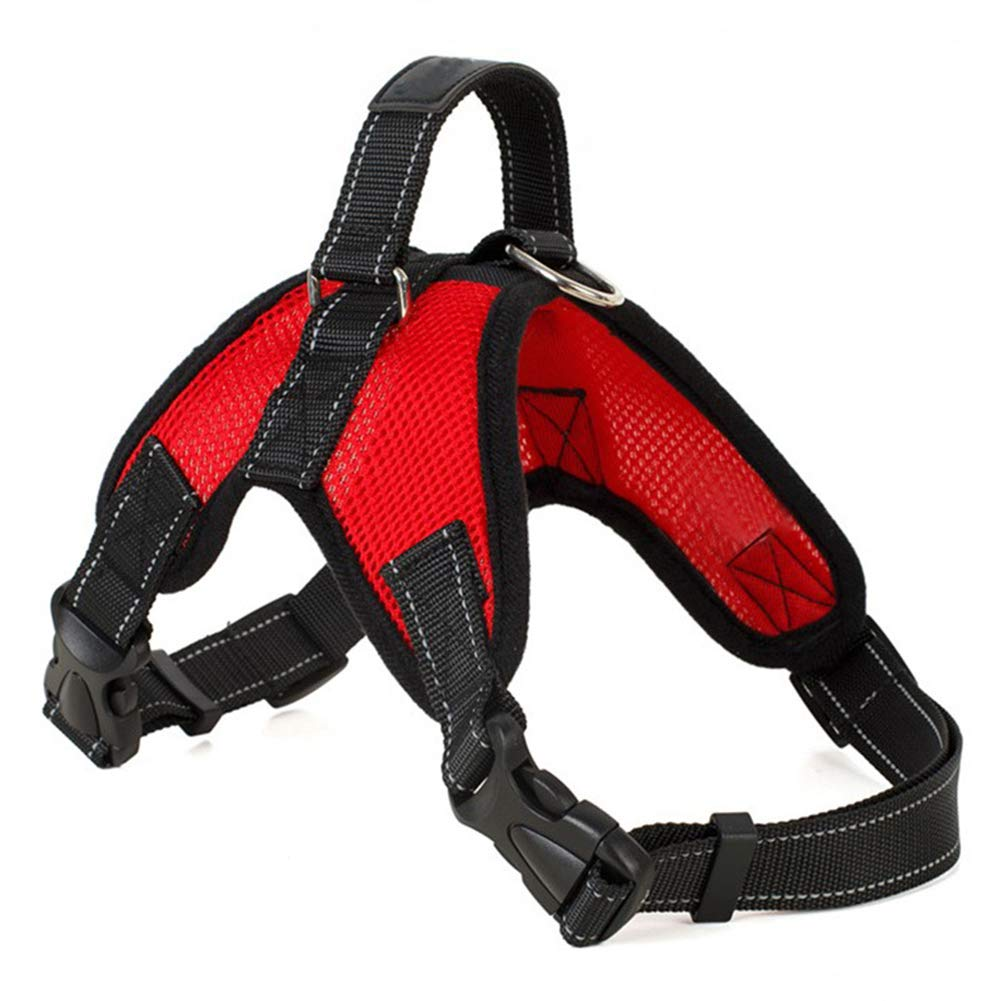Red Small Red Small Front Clip Vest Harness Dog Car Harnesses with Handle Puppy Chest Padded Adjustable Breathable Mesh Lightweight Easy Control for Outdoor Walking