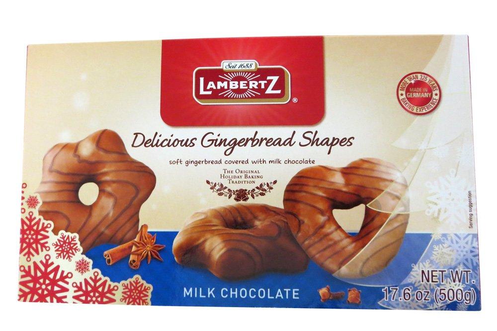 Henry Lambertz - Milk Chocolate Covered Lebkuchen Shapes - 500g/17.6 Oz
