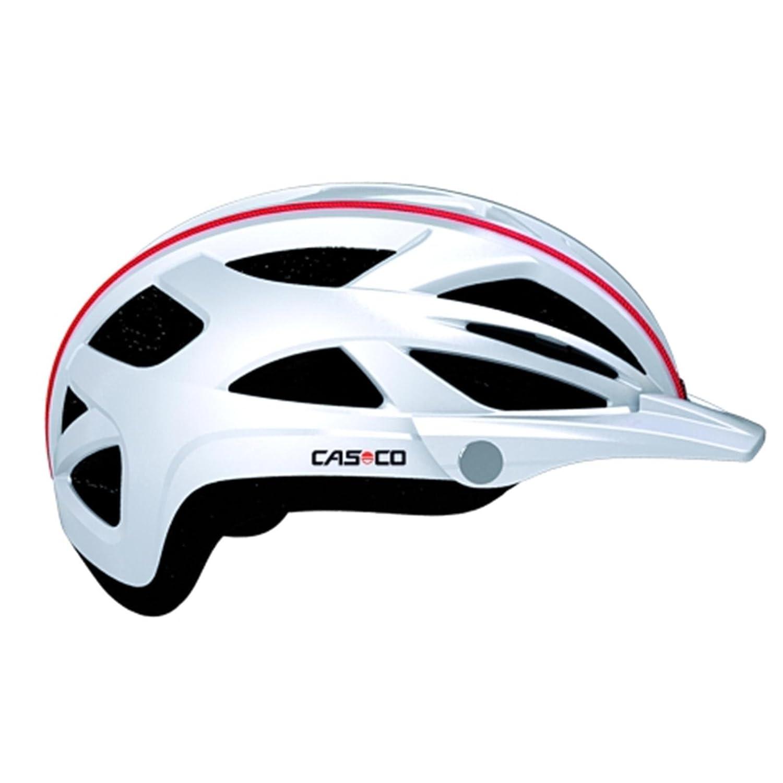 CASCO Active-TC weiß Life Reflektor Fahrradhelm Helm Bike Cityhelm Trekking City, 17.04.0817, Größe S M 52 - 58 cm