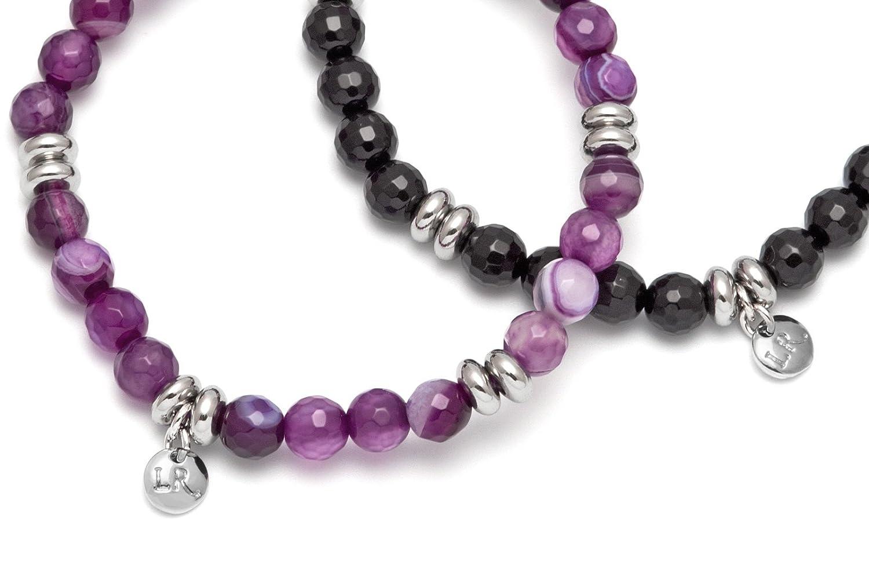 Lola Rose Women's Brass Janessa Purple Persian and Black Agate Mix Bracelet Set gGHUk9N3C0