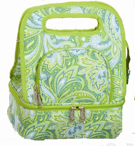 picnic-plus-savoy-insulated-lunch-tote-green-paisley