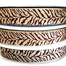 "Zebra Pattern Faux Burlap Ribbon - 25 Yds/roll (7/8"")"