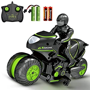 Rc Car Remote Control Car,2WD High Speed Rc Motorcycle,2.4Ghz 360° Rotating Drift Stunt Car Motorbike for Kids Age 4,5,6,7,8 and Up Year Old