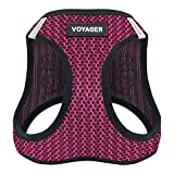 Best Pet Supplies Voyager All Weather No Pull Step-in Mesh Dog Harness with Padded Vest, Fuchsia, Large