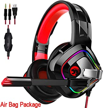 FXMINLHY PS4 Gaming Headphone 4D Stereo RGB Marquee Auriculares ...