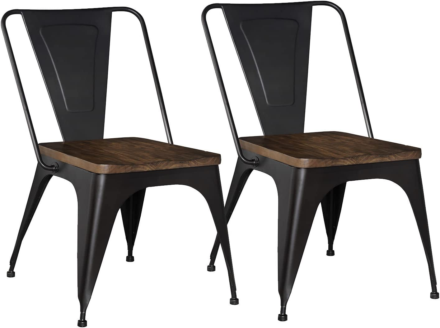 Standard Furniture Nelson 2-Pack Metal Chair, Black