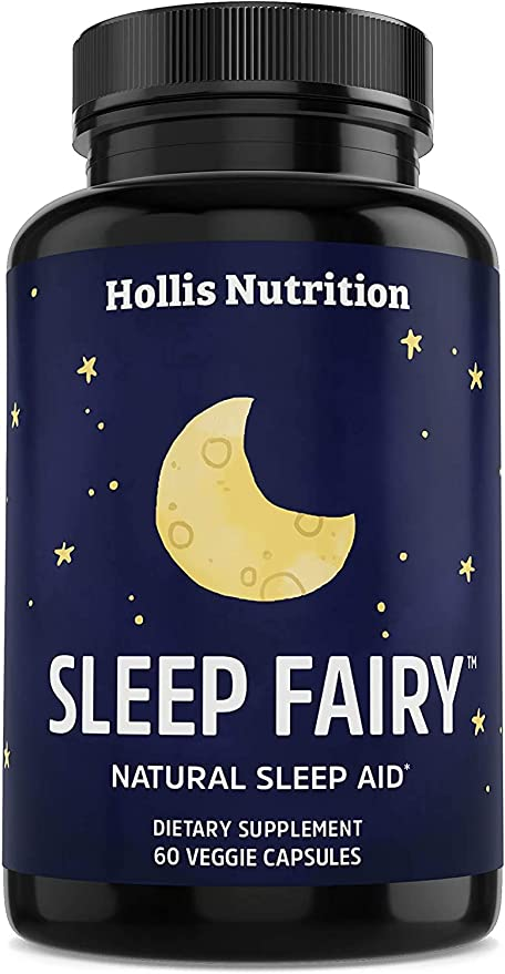 Sleep Fairy Natural Sleep Aid | Non-Habit Forming | Herbal Sleeping Pills for Adults w/Valerian Root, Chamomile, GABA, Melatonin | Insomnia Supplement | Promotes Healthy Sleep Cycle | 60 Vegan Caps