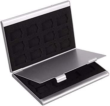 Portatarjetas de identificación Tarjeta de memoria MMC de metal Caja de almacenamiento de aluminio Cámara 6SD 24TF MMC TF Estuche para tarjeta de almacenamiento de tarjeta de memoria: Amazon.es: Electrónica