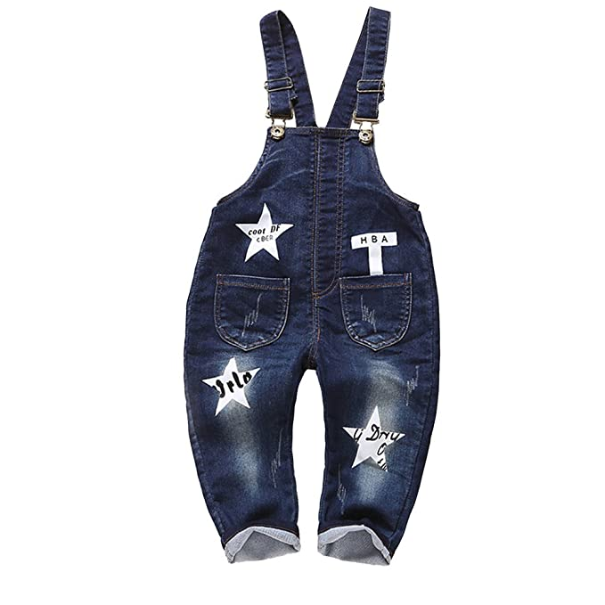 2697dd00d Kidscool Baby Boys/girls Deep Blue Four Pockets Front and Back Denim  Overalls: Amazon.ca: Clothing & Accessories