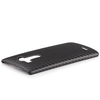 iCues LG G4 Carbono Negro Caso | Piel Protectora de ...