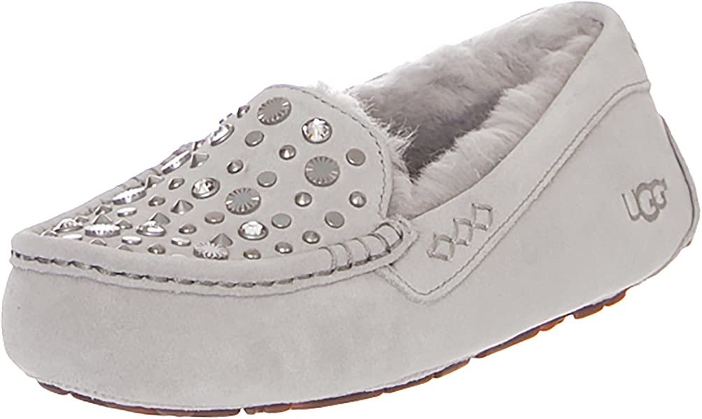 78bd2d62eb8 UGG Ansley Slip ON Bling Studded Shoes - Grey/Violet (UK 3): Amazon ...